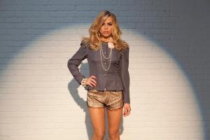 Billie Piper wears Harlette Luxury Lingerie Collection