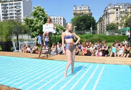 MIA Mayfair Minx Paris Absolute Summer Parade Swimming Pool Catwalk