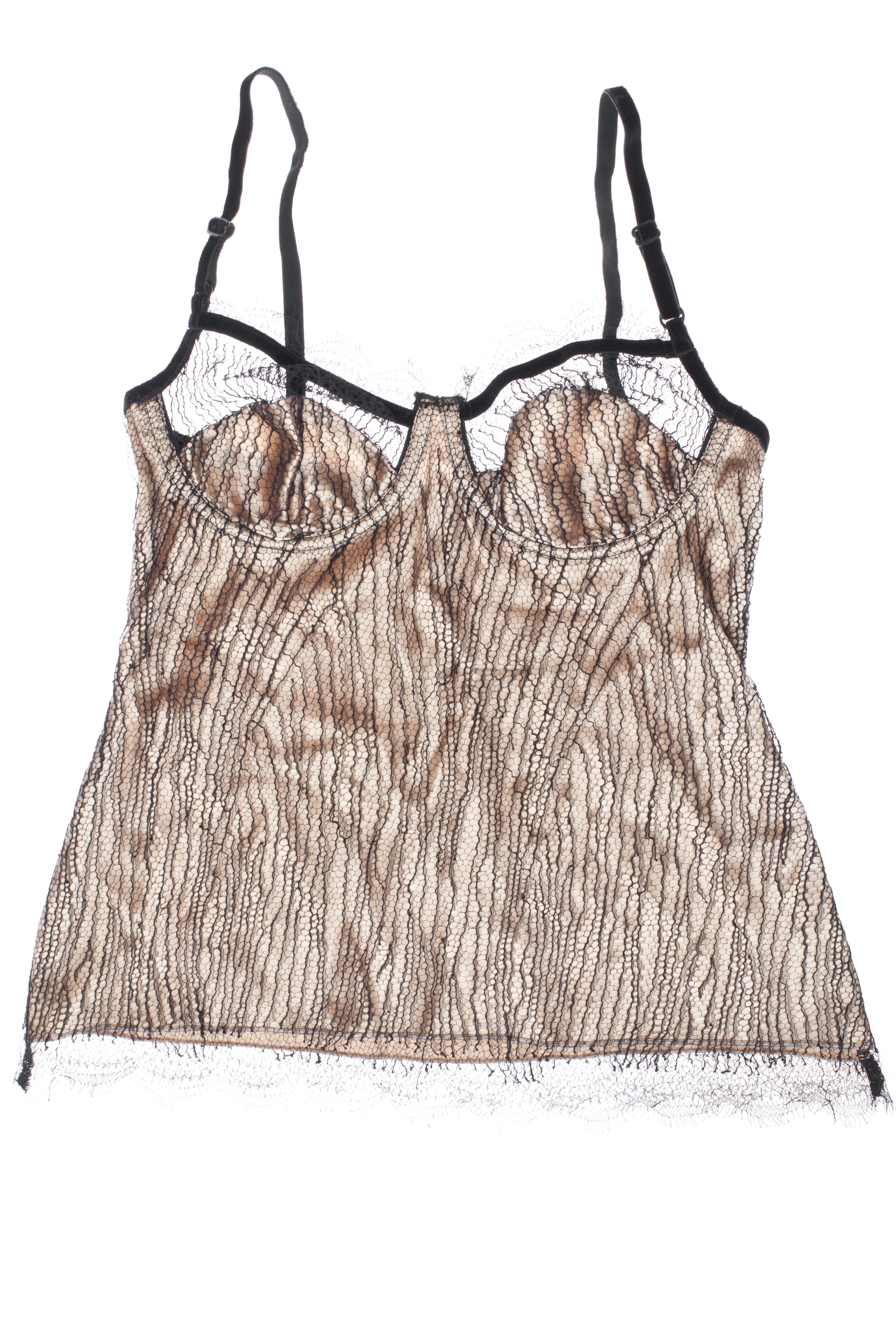 b45400563 Black Label Double Trouble Silk   Signature Harlette Lace Cami Top as seen  in Secret Diary